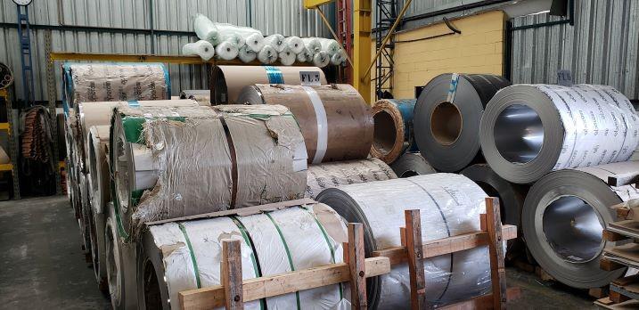 Bobina de aço inox 430