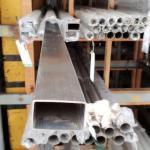 Tubo de aço inox retangular